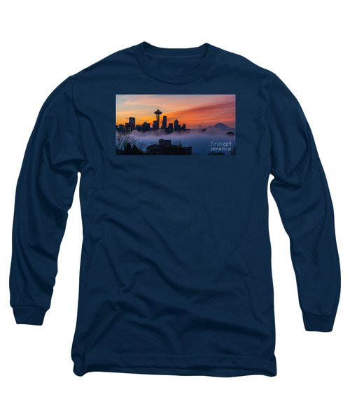 A City Emerges Long Sleeve T-Shirt by Mike Reid