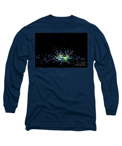 Long Sleeve T-Shirt featuring the photograph A Drop That Is A Crown by Arik Baltinester