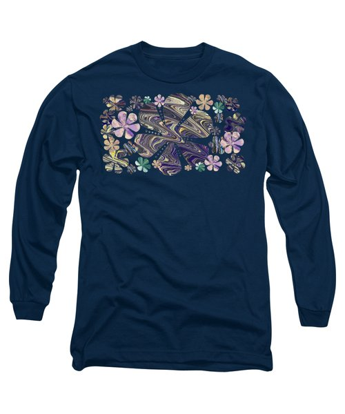 A Field Of Whimsical Flowers Long Sleeve T-Shirt