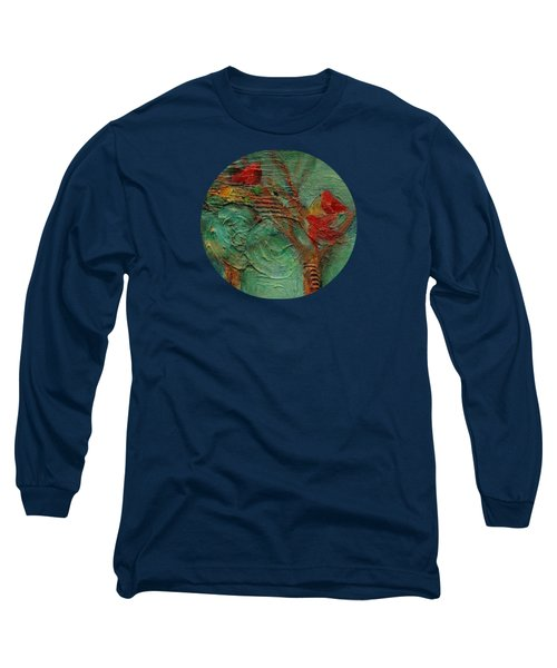 A Home In The Woods Long Sleeve T-Shirt by Mary Wolf