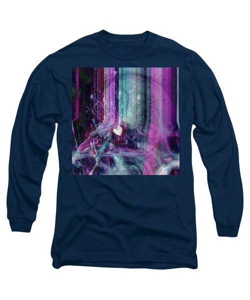 Long Sleeve T-Shirt featuring the digital art A Kind Heart by Linda Sannuti