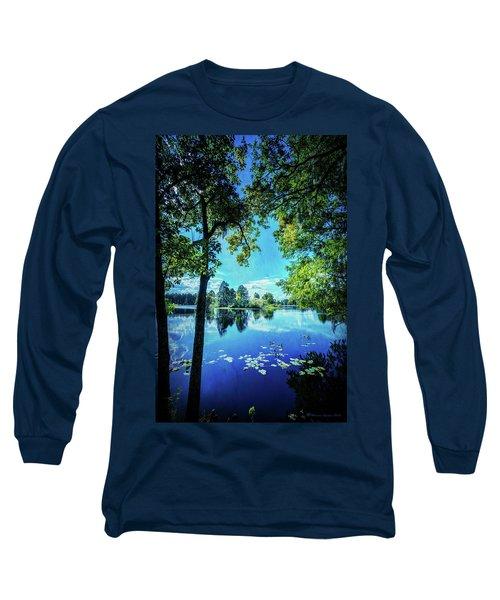 A Line Of Blue Long Sleeve T-Shirt