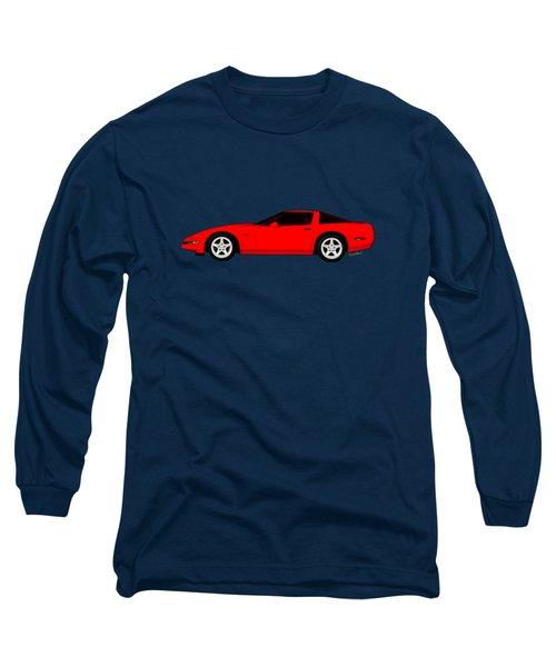 A Little C-4 Zr-1 Corvette On The Side Long Sleeve T-Shirt