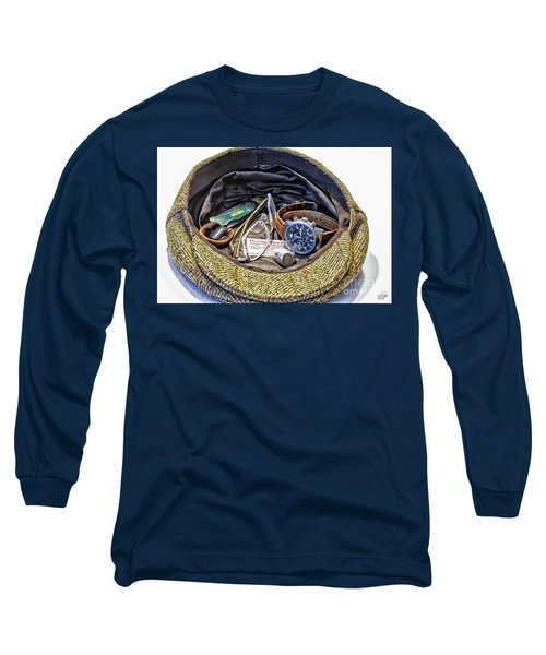 Long Sleeve T-Shirt featuring the photograph A Man's Items by Walt Foegelle