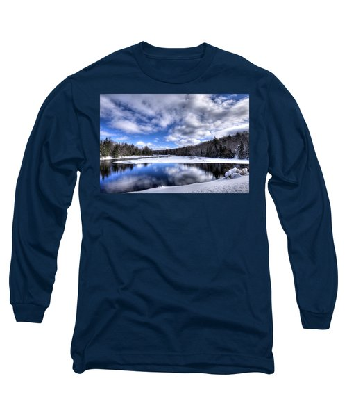 Long Sleeve T-Shirt featuring the photograph A Moose River Snowscape by David Patterson