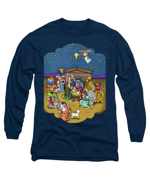 A Nativity Scene Long Sleeve T-Shirt by Sarah Batalka