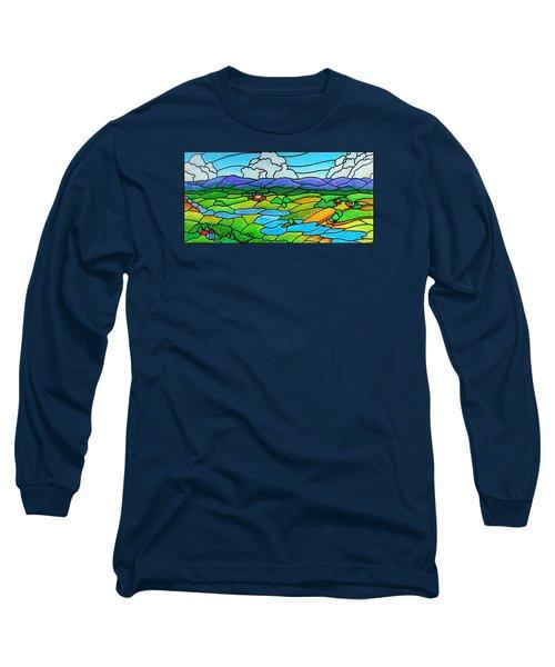 A River Runs Through It Long Sleeve T-Shirt by Jim Harris
