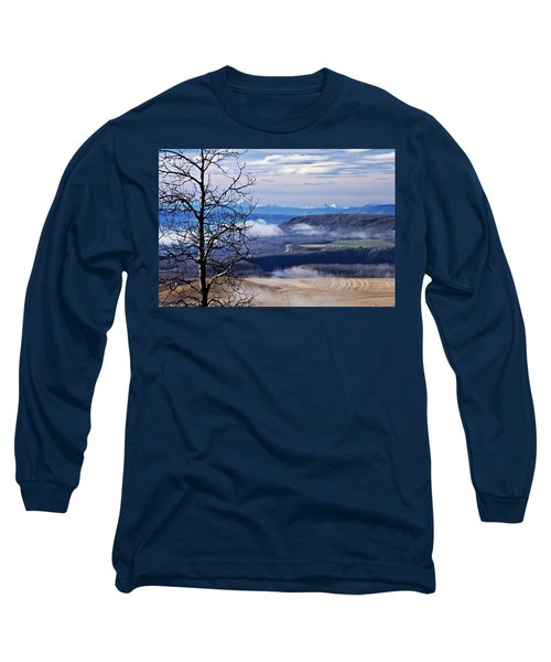 A Road Half Way There Long Sleeve T-Shirt by Sandra Foster