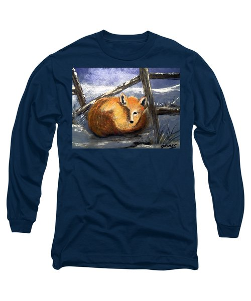 Long Sleeve T-Shirt featuring the painting A Safe Place To Sleep by Carol Grimes