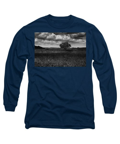 A Storm Is Coming To Wyoming Grasslands Long Sleeve T-Shirt by Jason Moynihan