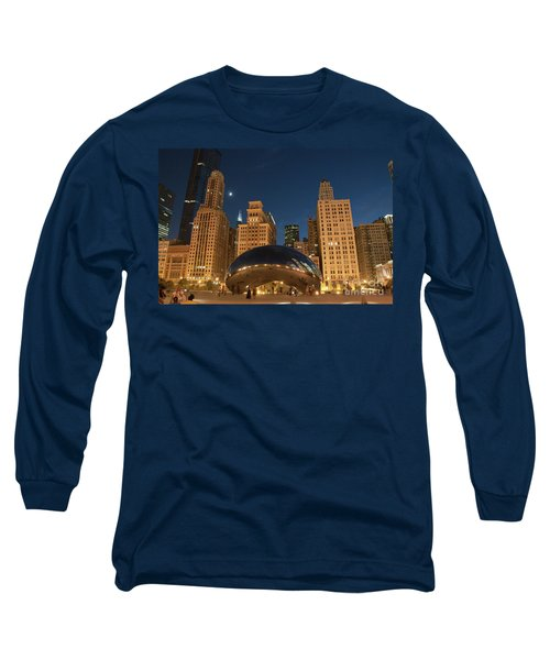 A View From Millenium Park At Night Long Sleeve T-Shirt