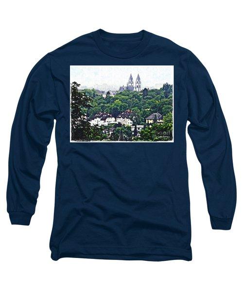 A View Of Wiesbaden Long Sleeve T-Shirt by Sarah Loft