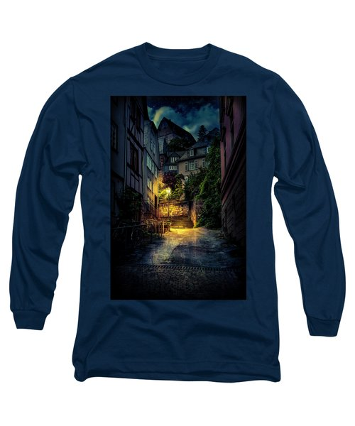Long Sleeve T-Shirt featuring the photograph A Wet Evening In Marburg by David Morefield