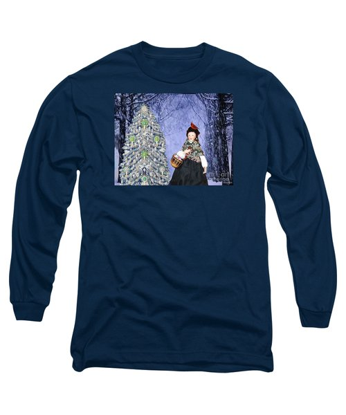 Long Sleeve T-Shirt featuring the digital art A Winter Walk by Lyric Lucas