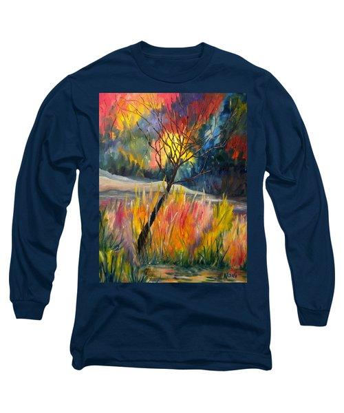Ablaze Long Sleeve T-Shirt by Renate Nadi Wesley