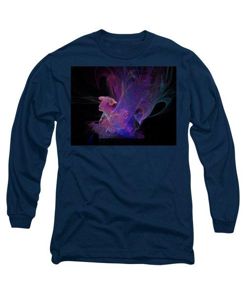 Abstact Pink Swan Long Sleeve T-Shirt by Tamara Sushko