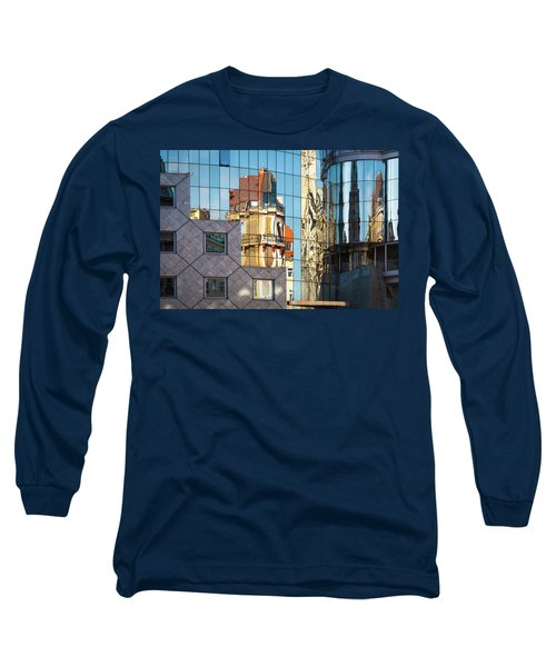 Abstract Architecture Long Sleeve T-Shirt by Teemu Tretjakov