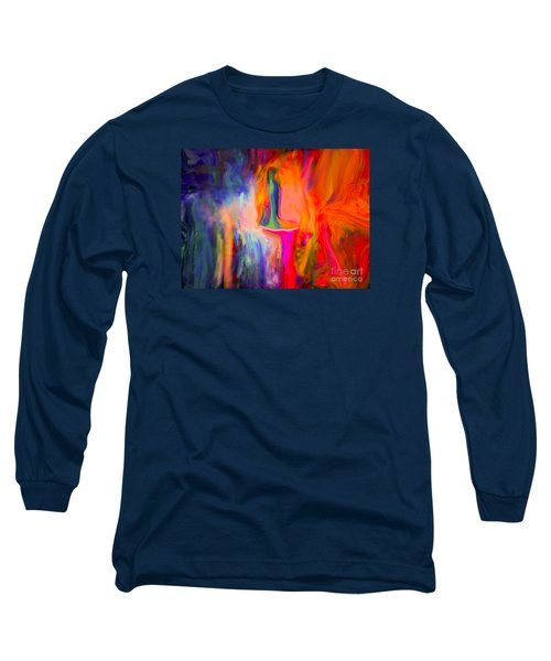 Abstract Art  Waiting Long Sleeve T-Shirt by Sherri's Of Palm Springs