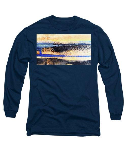 Abstract Coastal Beach Sunset Long Sleeve T-Shirt