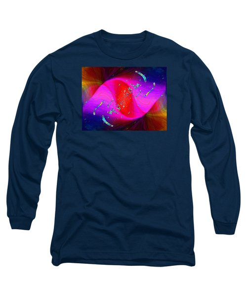 Long Sleeve T-Shirt featuring the digital art Abstract Cubed 354 by Tim Allen