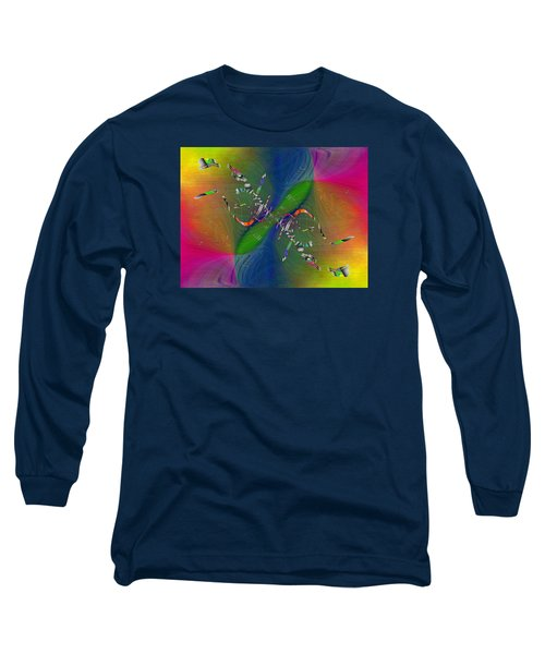 Long Sleeve T-Shirt featuring the digital art Abstract Cubed 356 by Tim Allen
