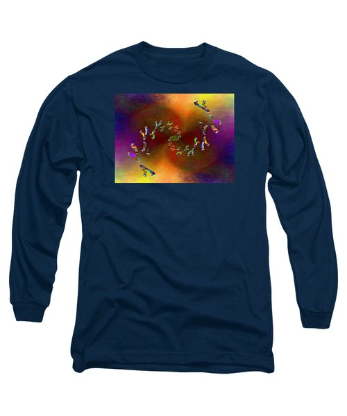Long Sleeve T-Shirt featuring the digital art Abstract Cubed 375 by Tim Allen