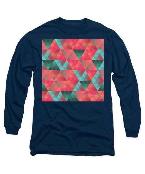 Abstract Geometric Colorful Endless Triangles Abstract Art Long Sleeve T-Shirt