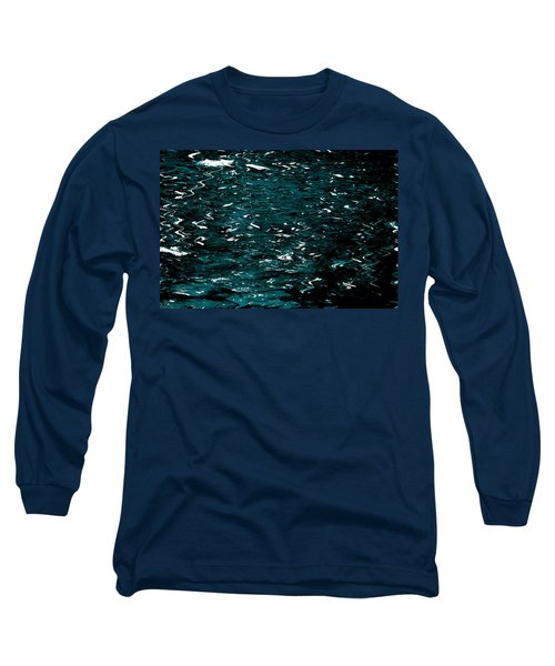 Long Sleeve T-Shirt featuring the photograph Abstract Green Reflections by Gary Smith
