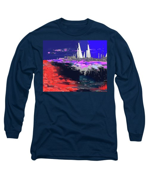 Abstract  Images Of Urban Landscape Series #14 Long Sleeve T-Shirt