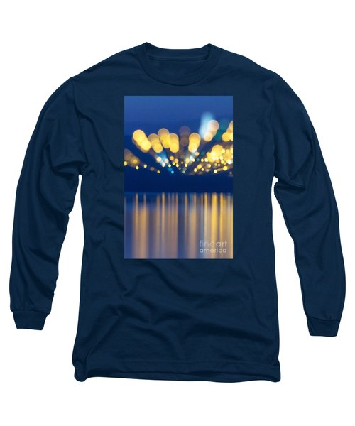 Abstract Light Texture With Mirroring Effect Long Sleeve T-Shirt by Odon Czintos