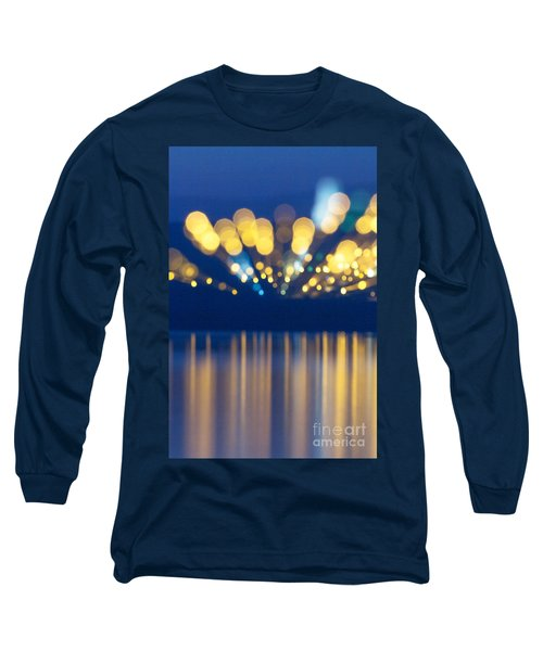 Abstract Light Texture With Mirroring Effect Long Sleeve T-Shirt