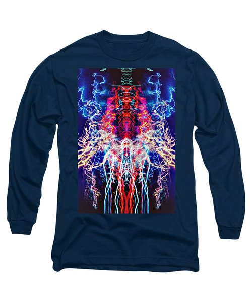 Abstract Lightpainting Oil Style Unique Poster Image Long Sleeve T-Shirt