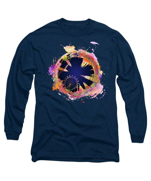 Abstract London Skyline At Night Long Sleeve T-Shirt