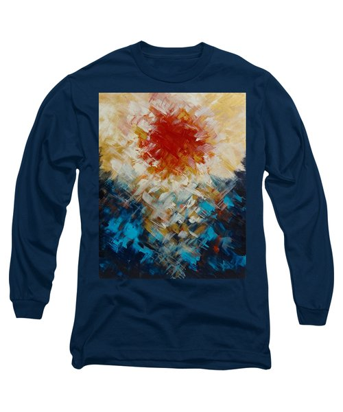 Abstract Blood Moon Long Sleeve T-Shirt