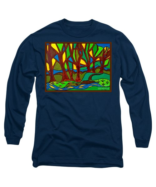 Abstract Of The Otter Pool Long Sleeve T-Shirt