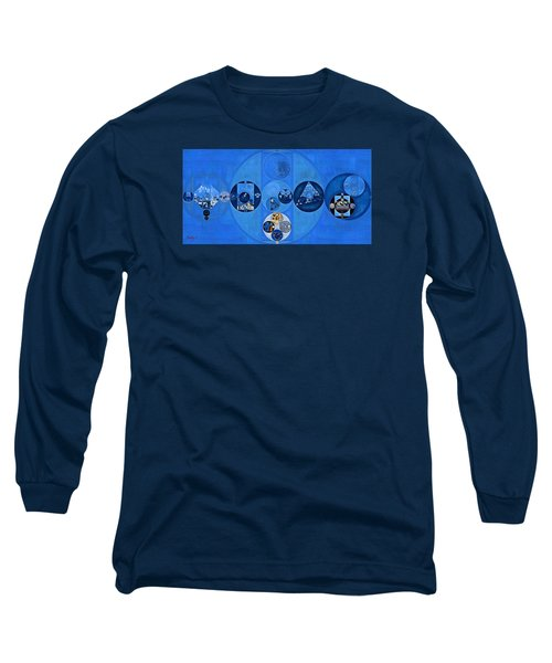 Abstract Painting - Sapphire Long Sleeve T-Shirt