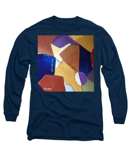 Long Sleeve T-Shirt featuring the painting Abstract Square  by Patricia Cleasby