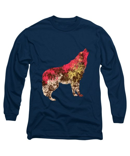 Abstract Wolf  Long Sleeve T-Shirt