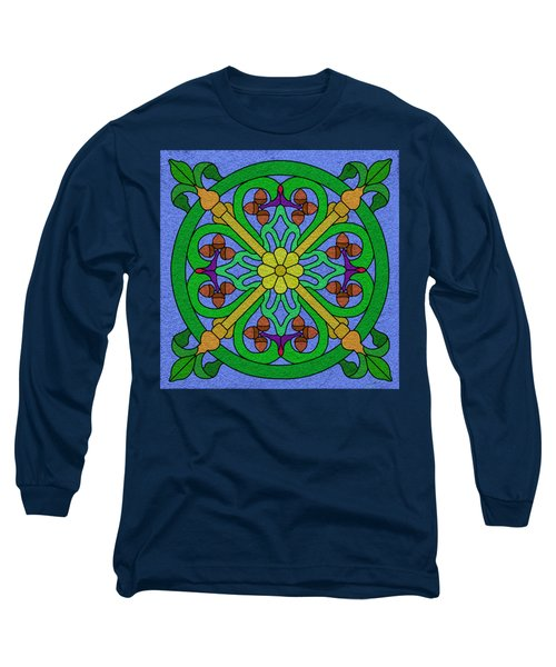 Acorn On Blue Long Sleeve T-Shirt by Curtis Koontz