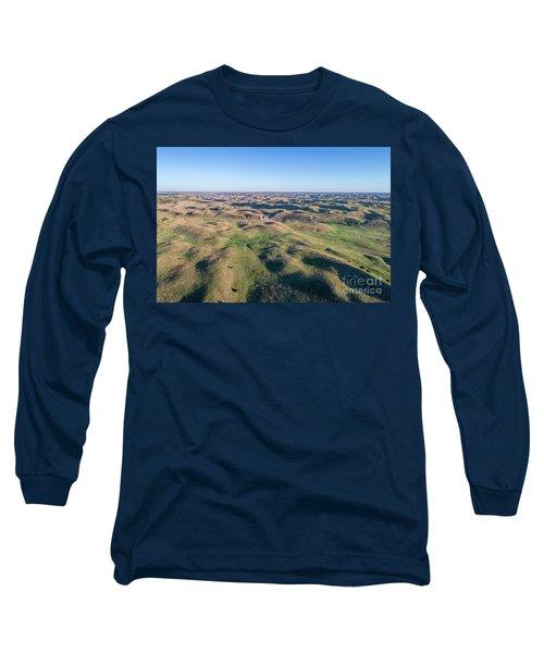 aerial view of Nebraska Sand Hills  Long Sleeve T-Shirt