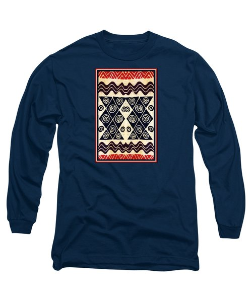 African Tribal Textile Design Long Sleeve T-Shirt
