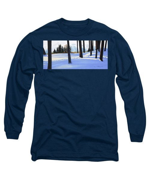Afternoon In Snowy Mountains Long Sleeve T-Shirt