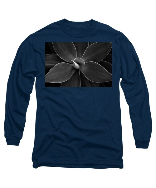 Agave Leaves Detail Long Sleeve T-Shirt by Marilyn Hunt