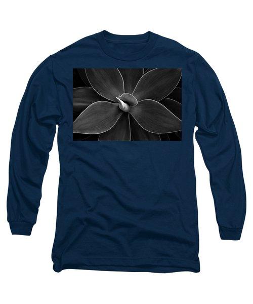 Agave Leaves Detail Long Sleeve T-Shirt