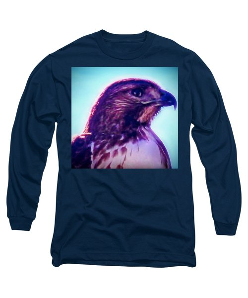 Ak-chin Red-tailed Hawk Portrait Long Sleeve T-Shirt