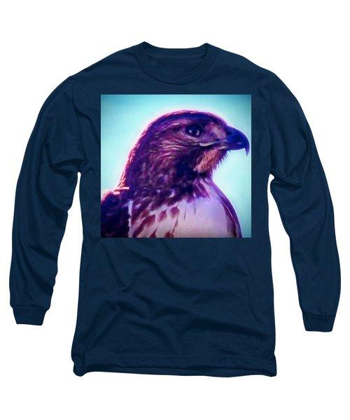 Ak-chin Red-tailed Hawk Portrait Long Sleeve T-Shirt