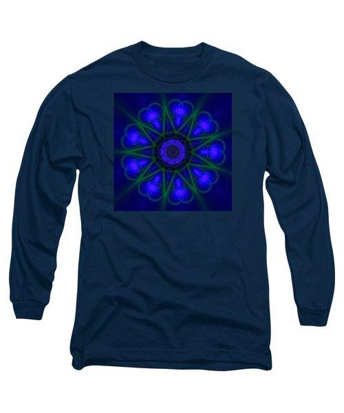 Long Sleeve T-Shirt featuring the digital art Akbal 9 Beats by Robert Thalmeier