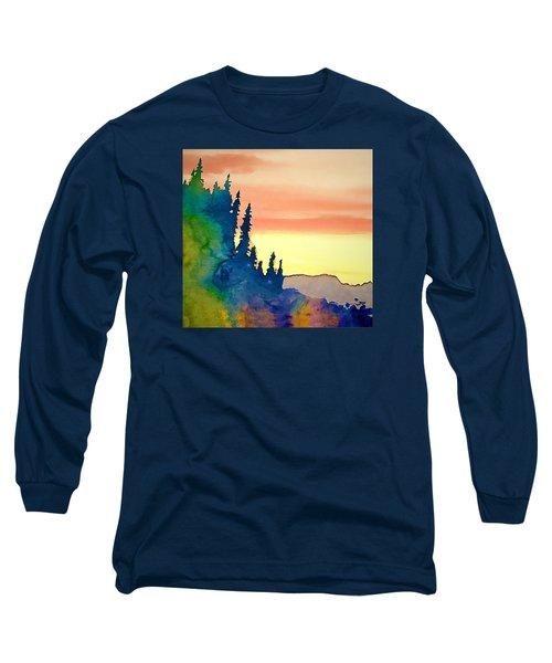Alaskan Sunset Long Sleeve T-Shirt by Jan Amiss Photography