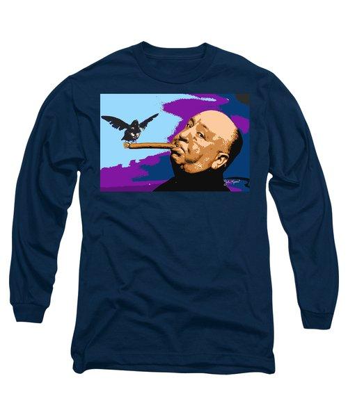Alfred Hitchcock Long Sleeve T-Shirt by John Keaton