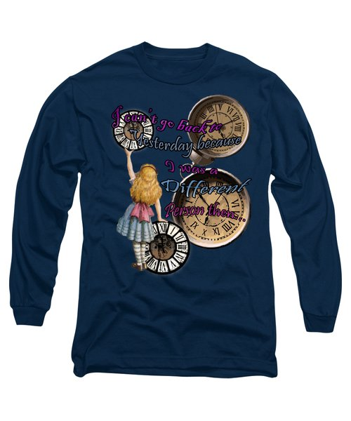Alice In Wonderland Travelling In Time Long Sleeve T-Shirt